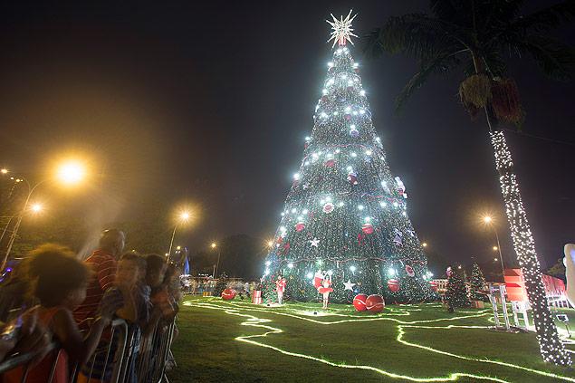 Árvore de Natal do Ibirapuera (Edilson Dantas/Folhapress)