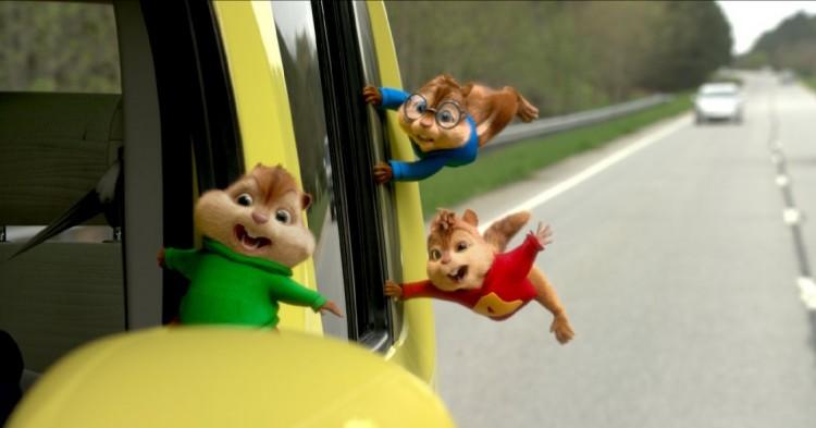 """Cena de """"Alvin e os Esquilos - Na Estrada"""" (Divulgação)"""