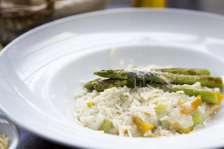 Risoto de abóbora, aspargos e gorgonzola, do restaurante Tita