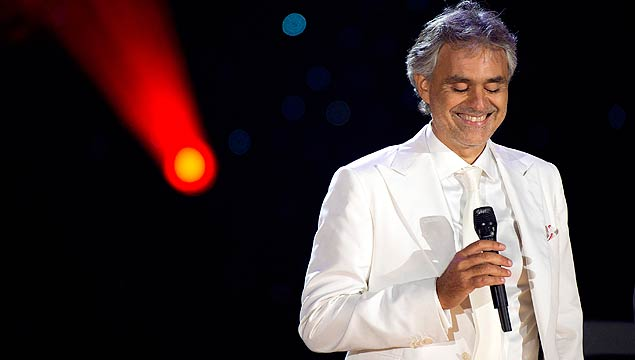 Tenor italiano Andrea Bocelli